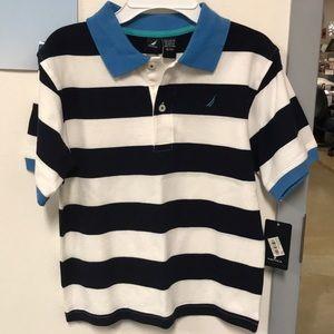 BRAND NEW Nautical boys striped shirt, shortsleeve